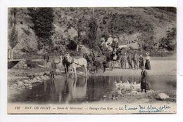- FRANCE (03) - CPA écrite ENV. DE VICHY 1919 - Route De Malavaux - Passage D'un Gué (belle Animation) - - Vichy