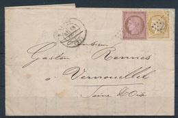BP-12: FRANCE: Lot N°58/59 Sur Lettre - 1871-1875 Ceres