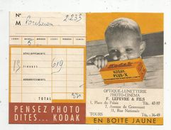 Pochette De Photographies , Kodak , Optique , Lunetterie , Photo - Cinéma F. Lefèvre & Fils , Tours - Fotografia