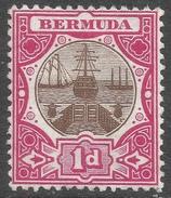Bermuda. 1902-3 Dry Dock. 1d MH. Crown CA W/M SG 32 - Bermuda