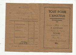 Pochette De Photographies , Tout Pour L'amateur ,optique - Photo - Cinéma , F. Lefèvre , Tours - Photographie