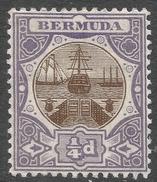 Bermuda. 1906-10 Dry Dock. ¼d MH. Mult Crown CA W/M SG 34 - Bermuda
