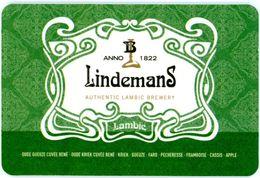 Lindemans. Anno 1822. Authentic Lambic Brewery. Oude Gueuse Cuvée René. Kriek. Faro. Pecheresse. Framboise. Cassis.Apple - Sous-bocks