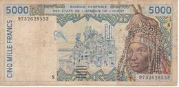 BILLETE DE GUINEA BISSAU DE 5000 FRANCS DEL AÑO 2002  (BANKNOTE) - Guinea-Bissau