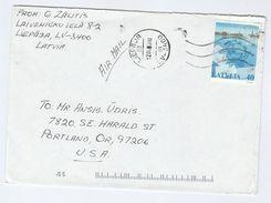 2000 LATVIA COVER Stamps UPU To USA - U.P.U.