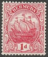 Bermuda. 1910-25 Ship.  1d MH. Mult Crown CA W/M SG 46 - Bermuda