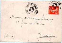 Cachet  Gare De NIORT Du 22.06.1914 - Postmark Collection (Covers)