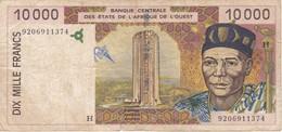 BILLETE DE NIGER DE 10000 FRANCS DEL AÑO 1992  (BANKNOTE) - Niger