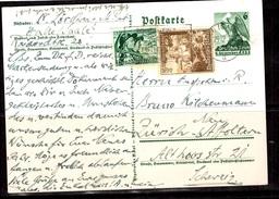 Allemagne/Reich Très Belle Carte De Propagande De 1938. Affranchissement Composé. B/TB. A Saisir! - Covers & Documents