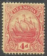 Bermuda. 1910-25 Ship.  4d MH. Mult Crown CA W/M SG 49a - Bermuda