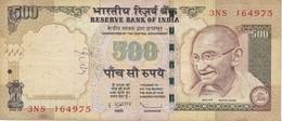 BILLETE DE LA INDIA DE 500 RUPEES  GHANDI  (BANKNOTE) DIFERENTES FIRMAS - India