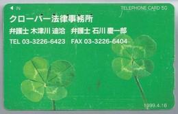 JP.- Japan, Telefoonkaart. Telecarte Japon. TELEPHONE CARD 50. KLAVER 4. - Telefoonkaarten
