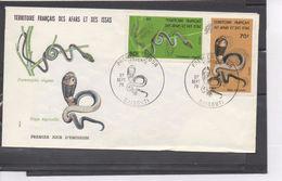 Afars Et Issas - Faune - Serpents : Naja Nigricollis, (Cobra Cracheur à Cou Noir), Psammophis Elegans - Afar- En Issaland (1967-1977)