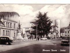 ROSSANO VENETO-VICENZA-CENTRO-AUTOMOBILI IN PRIMO PIANO-CARTOLINA VERA FOTOGRAFIA-VIAGGIATA IL 24-8-1963 - Vicenza