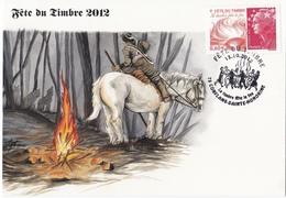 Carte Souvenir Souvenir Fête Du Timbre 2012 - Autres