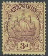 Bermuda. 1922-34 Ship. 3d Used. Mult Script CA W/M SG 84 - Bermuda