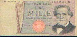 ITALIE – Billet De 1000 Lire VERDI - [ 2] 1946-… : République