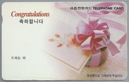 JP.- Japan, Telefoonkaart. Telecarte Japon. TELEPHONE CARD  CONGRATULATIONS - Telefoonkaarten
