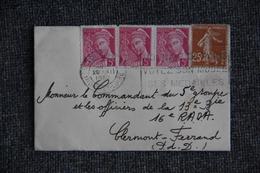 Lettre De TOURS Vers CLERMONT FERRAND - Covers & Documents