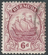 Bermuda. 1922-34 Ship. 6d Used. Mult Script CA W/M SG 86 - Bermuda