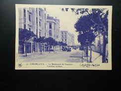 2 Cartes CASABLANCA Boulevard De Paris, Boulevard De Lorraine  Années 1910/20 - Casablanca