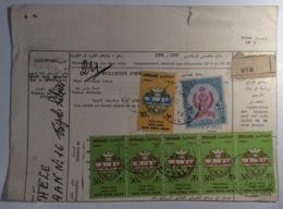 Libya Parcel Card TRIPOLI 1964 Arab Postal Union> Italia  (cover Lettre Lettera Regno Unito Della Libia - Libia