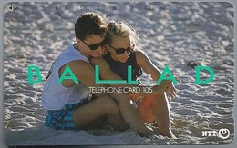 JP.- Japan, Telefoonkaart. Telecarte Japon. NTT. TELEPHONE CARD 105. BALLAD. Strand. Verliefd Stel. - Personen