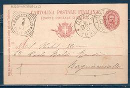 Italia / Italy  1900 Cartolina Postale Da OSTRA VETERE (ANCONA ) A BAGNO CAVALLO (RAVENNA) - 1900-44 Vittorio Emanuele III