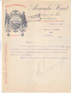62 Boulogne Sur Mer- Alexandre HURET,spécialiste De Marée Fraiche.Lettre Joliment  Illustrée De 1912. Tb état - 1900 – 1949