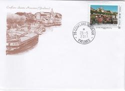 Enveloppe Avec Timbre Collector De Conflans Sainte Honorine - France