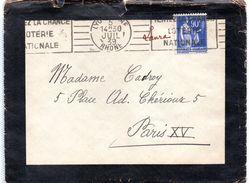 Cachet  Gare De LYON  Du 05.07.1939 - Postmark Collection (Covers)