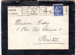 Cachet  Gare De LYON  Du 05.07.1939 - Railway Post