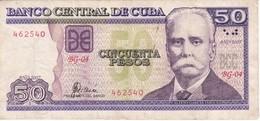 BILLETE DE CUBA DE 50 PESOS DEL AÑO 2007 DE CALIXTO GARCIA  (BANKNOTE) - Cuba