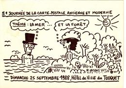 LASSUS  Robert  -  5ème Salon Carte Postale Le Touquet -  Diable -  CPM  10.5x15  Neuve TBE 1988 Carte Dédicacée - Künstlerkarten