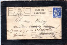 Cachet  Gare De LYON  Du 10.08.1938 - Postmark Collection (Covers)