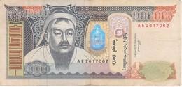 BILLETE DE MONGOLIA DE 10000 TORPOR DEL AÑO 2002 (BANKNOTE) - Mongolia