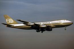 Aviation Postcard-749-SEABOARD WORLD Boeing 747 - 1946-....: Moderne