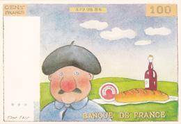 LAY Dan  Ed Décorève  N°194 - HUMOUR  Billet Cent Francs - Beret Français Vin Baguette Camembert -  CPM 10.5x15 BE Neuve - Otros Ilustradores
