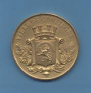 MEDAILLE En Bronze Doré -  VILLE DE COMPIEGNE - Other