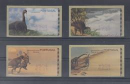 Portugal ATM Dinosaurier, 4 Motive Esc./€  Druck SMD,  Mi.-Nr. 29-32.1 Z1 - ATM/Frama Labels