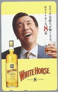 JP.- Japan, Telefoonkaart. Telecarte Japon. WHITE HORSE. AGED 8 YEARS - Reclame