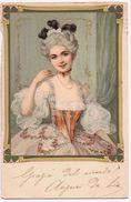 Cartolina Con Illustrazione Di Dama In Vestito D' Epoca - Viaggiata Presumibilmente Anni '20 - Moda