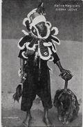 CPA Sierra Léone Type Ethnic Magicien Magician écrite - Sierra Leone