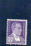TURQUIE 1950 * PAPIER MINCE DENT 12 - 1921-... République