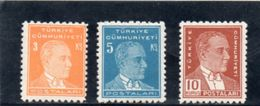 TURQUIE 1950 * - 1921-... République