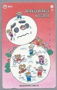 JP.- Japan, Telefoonkaart. Telecarte Japon. NTT. TELEFHONE CARD 50. WAKUWAKU NIIGATA - Telefoonkaarten