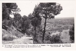 12 POSTAL DE MONTROIG DE UNA VISTA PANORAMICA DESDE EL CAMINO DE LA ERMITA DEL AÑO 1954 (FOTO RAYMOND) - Tarragona