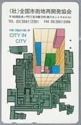 JP.- Japan, Telefoonkaart. Telecarte Japon. FOR CREATION OF CITY IN CITY. - Telefoonkaarten