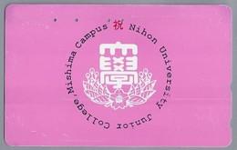 JP.- Japan, Telefoonkaart. Telecarte Japon. NIHON UNIVERSITY JUNIOR COLLEGE MISHIMA CAMPUS - Telefoonkaarten