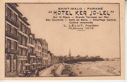 SAINT MALO PARAME - Hôtel KER JO LEL - Prop. Lélut ( Illustrateur Morice )  PRIX FIXE - Parame